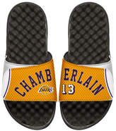 ISlide NBA Retro Legends Wilt Chamberlain 13 Jersey Slide Sandal, White