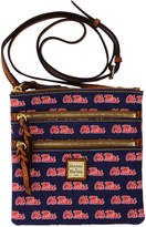 Dooney & Bourke Mississippi Rebels Triple Zip Crossbody Bag