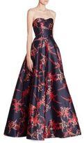 Oscar de la Renta Strapless Silk & Cotton Sweatheart Ball Gown