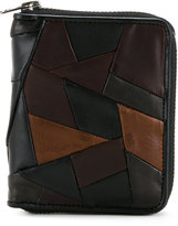 Anrealage X Porter patchwork wallet - men - Calf Leather/Horse Leather/Sheep Skin/Shearling - One Size