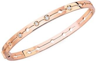 Dinh Van Pulse 18K Rose Gold & Diamond Small Bangle Bracelet