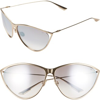 Christian Dior Newmotards 65mm Oversize Cat Eye Sunglasses