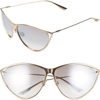 Christian Dior Newmotards 65mm Oversize Cat Eye Sunglasses
