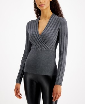 INC International Concepts Inc Surplice Sweater, Created for Macy's