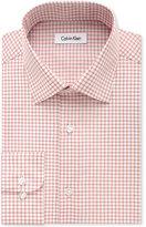 Calvin Klein STEEL Men's Big & Tall Classic-Fit Non-Iron Performance Sienna Check Dress Shirt