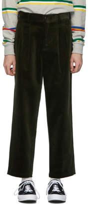 Noah NYC Green Corduroy Double-Pleat Trousers