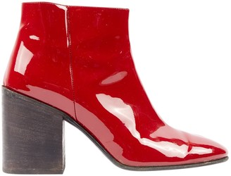 Acne Studios Red Patent leather Ankle boots