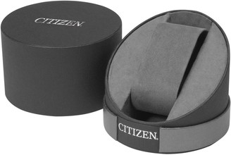 Citizen Eco-Drive White and Rose Gold Detail Chronograph Dial Pink Leather Strap Ladies Watch