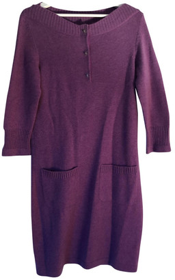 Chanel Purple Cashmere Dresses