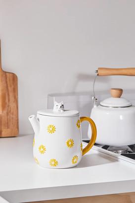 Floral Cat Teapot