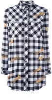 Filles a papa 'Delta' checked embellished star shirt