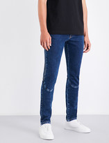 Kenzo Updated Biker slim-fit straight mid-rise jeans