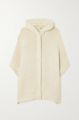 Brunello Cucinelli Hooded Bead-embellished Cotton Cardigan - Cream
