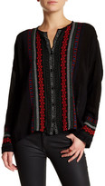 Johnny Was Embroidered Button Closure Blouse