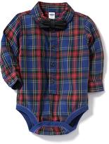 Old Navy Plaid Bow-Tie Bodysuit for Baby