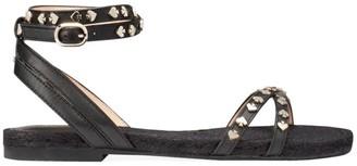 Kate Spade Mai Tai Studded Ankle-Strap Flat Sandals