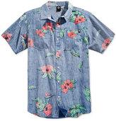 Neff Men's Push Cotton Floral-Print Shirt