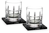 Waterford Cluin Short Stories Two-Piece Old Fashioned Glass & Coaster Set