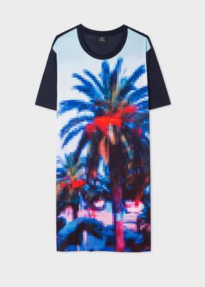 Paul Smith Women's Navy 'Pixel Palm' Print Jersey Dress