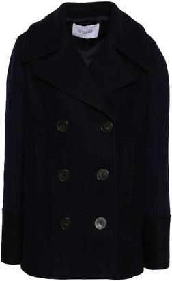 Derek Lam 10 Crosby Paneled Felt And Ribbed-knit Coat