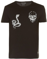 Alexander Mcqueen Snake And Skull T-shirt