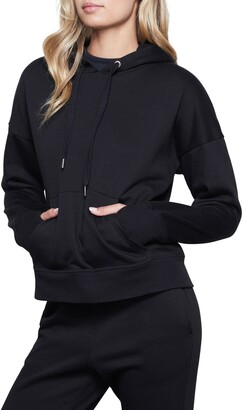 Good American Lace-Up Back Thumbhole Sleeve Pullover Hoodie