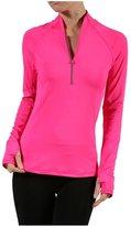 2LUV Women'sLong Sleeve Half-Zip Athletic Track Jacket S (T1408)