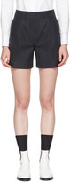 Thom Browne Navy Single Pleat Mini Shorts