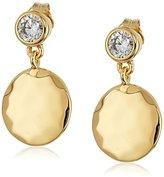 Judith Jack Sterling Silver Gold-Tone Drop Earrings