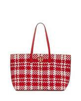 Tory Burch Duet Woven Leather Tote Bag