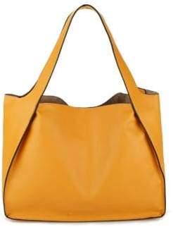 Design Lab Open Faux-Leather Tote With Pouch