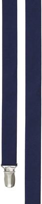 Tie Bar Grosgrain Solid Navy Suspender