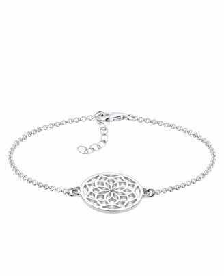 Elli Women's 925 Sterling Silver Chain Dreamcatcher Link and Chain Bracelets of Length 17 cm