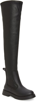 Jeffrey Campbell Rainfall Waterproof Over the Knee Rain Boot