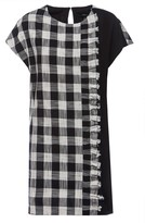 Nissa Plaid Cotton Dress With Short Sleeves