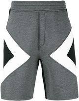Neil Barrett graphic track shorts - men - Lyocell/Cotton/Viscose/Polyurethane - S