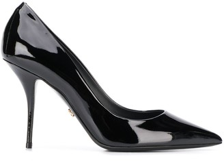 Dolce & Gabbana Polished Leather Pointed Pumps