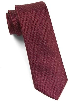 Tie Bar Speckled Burgundy Tie