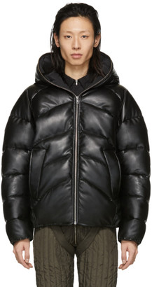 Random Identities Black Rubber Duvet Jacket