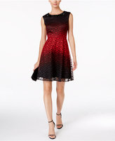 Sandra Darren Lace Fit & Flare Dress