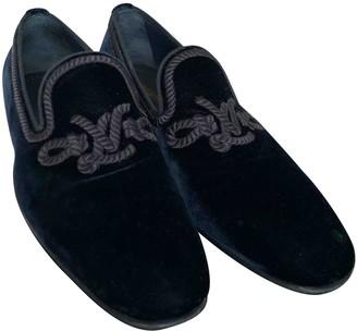 Louis Vuitton Navy Velvet Flats