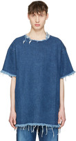 Marques Almeida Blue Denim T-shirt