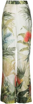 Roberto Cavalli Tropical-Print Pyjama-Style Trousers