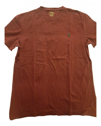 Polo Ralph Lauren Burgundy Cotton T-shirts