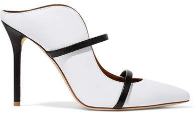 Malone Souliers by Roy Luwolt - Maureen Leather Mules - White