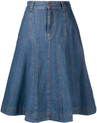 See by Chloe Denim Flared Skirt