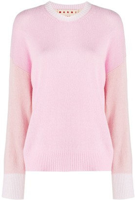 Marni Colour-Blocked Cashmere Jumper