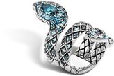 John Hardy Cobra Coil Ring with Black Onyx and Diamonds