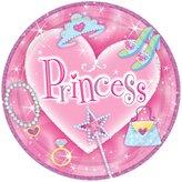 "Amscan Princess 9"" Prismatic Plates - 8 ct"