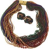 One Kings Lane Vintage Venetian Glass Necklace & Knot Earrings